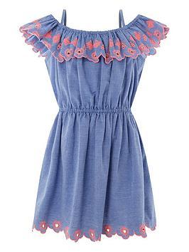 accessorize-girls-chambray-embroidered-bardot-dress