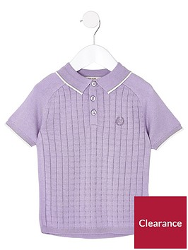 river-island-mini-boys-grid-polo-shirt