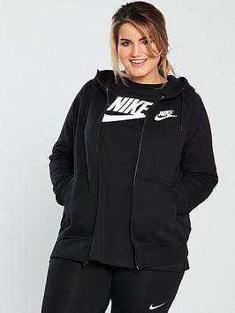 nike-sportswear-full-zipnbsprally-hoodie-plus-size-blacknbsp