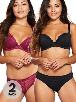 dorina-quinn-curve-2-pack-padded-bra-redblacknbsp