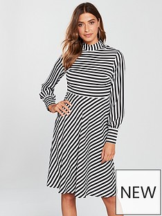 v-by-very-stripe-skater-dress-monochrome