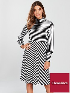 v-by-very-stripe-skater-dress-monochrome