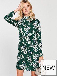 v-by-very-gathered-neckline-tunic-printed