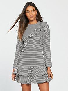 v-by-very-frill-checked-dress