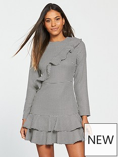 v-by-very-frill-checked-dress