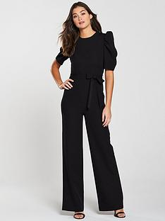 v-by-very-sleeve-detail-wide-leg-jumpsuit-black
