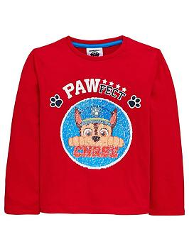 paw-patrol-boys-reversible-sequin-chase-amp-marshall-long-sleeve-tshirt