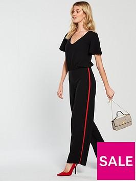 v-by-very-side-stripe-jumpsuit-black