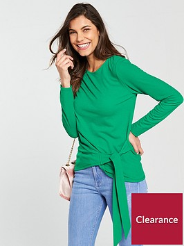 v-by-very-tie-side-long-sleeve-top-apple-green