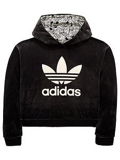 adidas-originals-girls-zebra-cropped-hoodienbsp--black