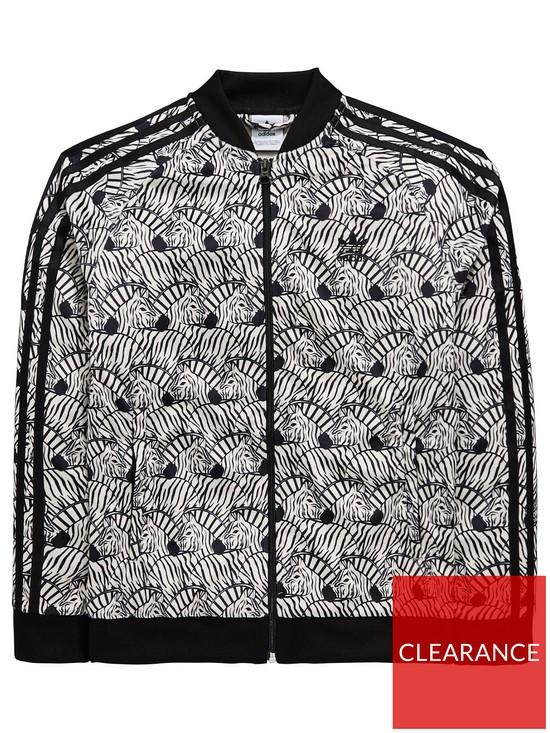 5f7ab538db19b adidas Originals Adidas Originals Girls Zebra Superstar Track Jacket ...