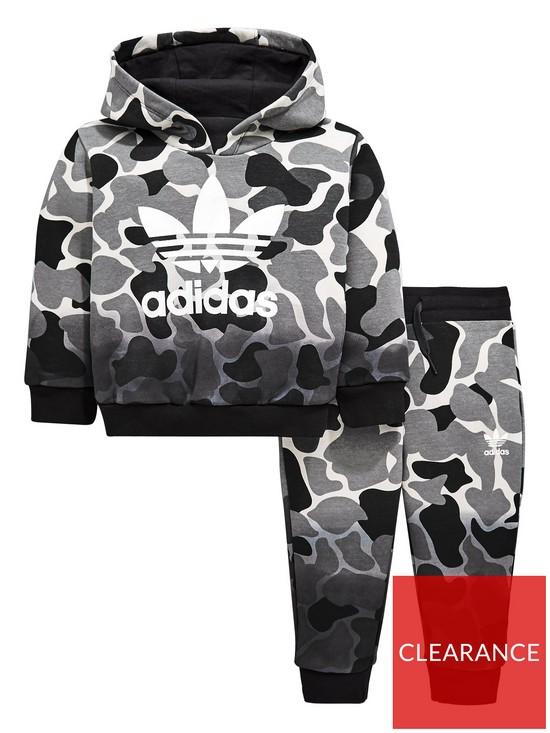 adidas Originals Adidas Originals Baby Boys Trefoil Fz Hooded Tracksuit bea5d73ab305