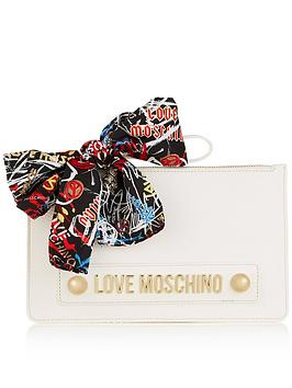 love-moschino-scarf-detail-clutch-bag-white
