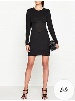 versus-versace-enversnbspsatin-bustier-mini-dress-black