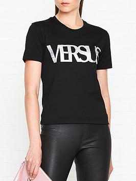versus-versace-holographic-logo-print-t-shirtnbsp--black