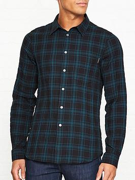 ps-paul-smith-check-print-cotton-shirt-black