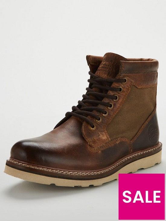 Superdry Stirling Sleek Stiefel Distressed Tan   very.co   very.co e8cba8