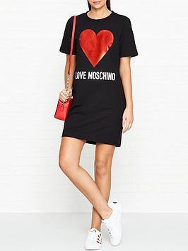 love-moschino-heart-logo-t-shirt-dress-black