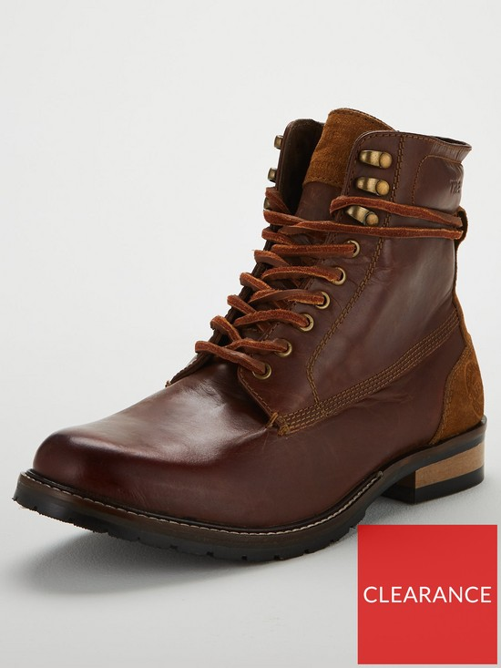 9c876a7e5cab Superdry Edmond Lace Up Boots - Dark Brown