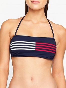 tommy-hilfiger-core-stripe-bandeau-bikini-top-navy
