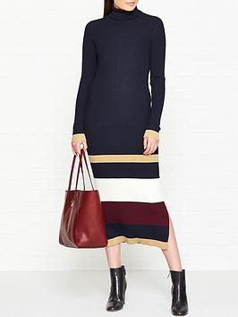 tommy-hilfiger-icon-tarah-lurx-stripe-knitted-midi-dress-navy
