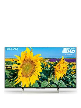 Sony Bravia Kd43Xf8096, 43 Inch, 4K Hdr Ultra Hd Smart Android Tv&Trade; With Youview, Freeview Hd And Google Assistant Built-In - Black