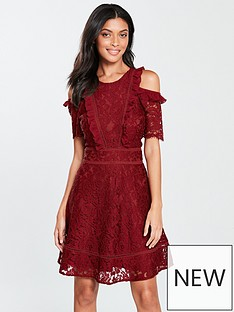 v-by-very-cold-shoulder-lace-skater-dress-burgundy