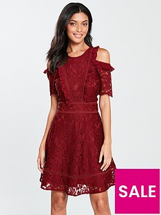 v-by-very-cold-shoulder-lace-skater-dress-burgundy