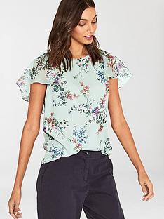 oasis-jasmine-floral-cape-sleeve-top