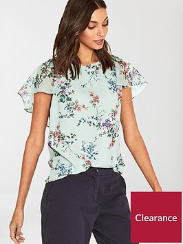 oasis-jasmine-floral-cape-sleeve-top