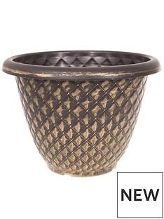 pair-of-gold-pinecone-planters-33cm-diameter