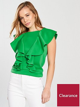 v-by-very-petite-ruffle-front-crop-greennbsp