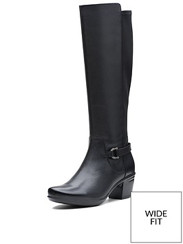 clarks-clarks-wide-fit-emslie-march-knee-high-boot-black