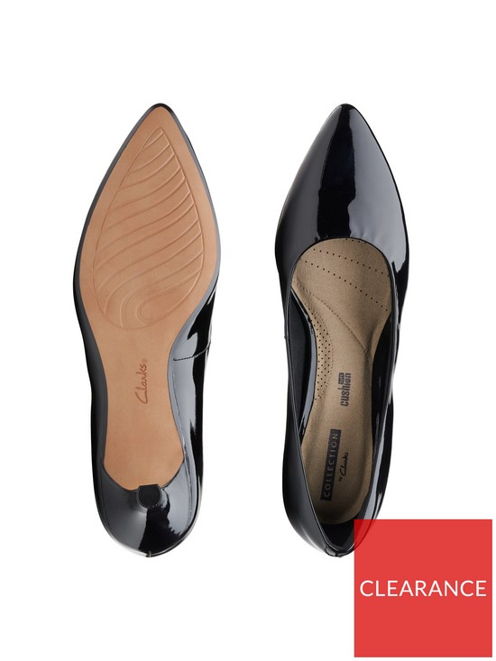 38e00b21124 ... Clarks Wide Fit Linvale Jerica Court Shoe - Black Patent. View larger
