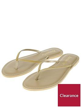 accessorize-sparkle-flip-flop-gold