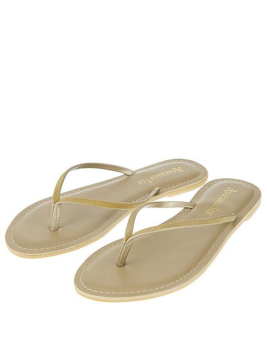 cee2c41367d468 Accessorize Sparkle Flip Flop - Gold