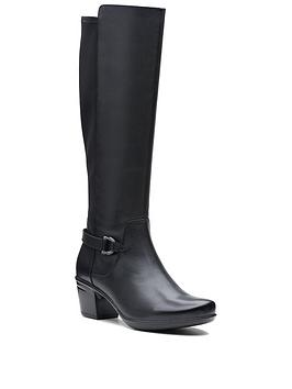clarks-emslie-march-knee-high-boot-black