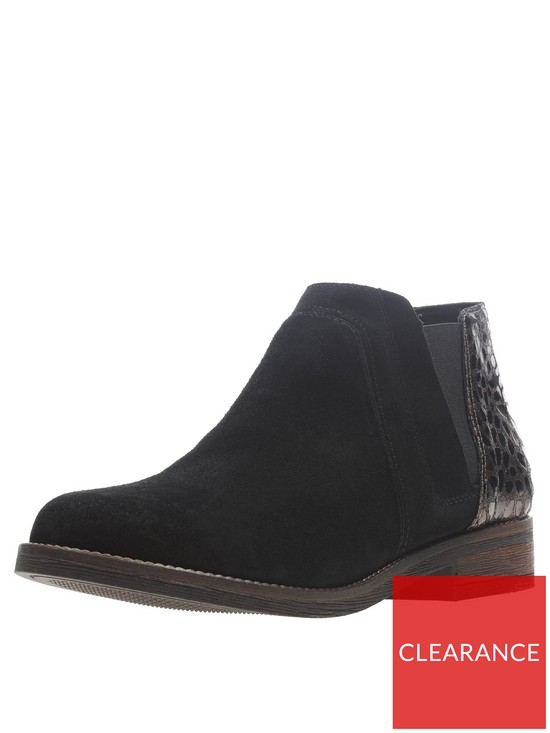 c4a0e6ddb Clarks Demi Beat Flat Ankle Boot - Black | very.co.uk