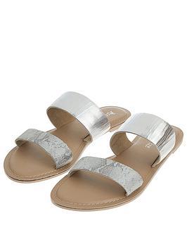 accessorize-dani-double-strap-flat-sandals-silver