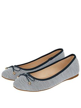 Accessorize Nautical Becky Ballerina Shoes - Navy