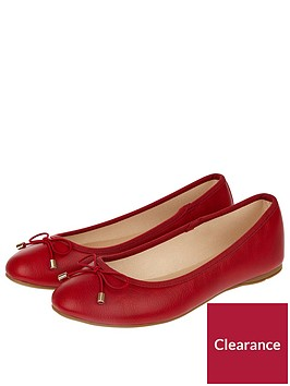 accessorize-coralie-basic-ballerina-flats-red