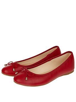 Accessorize Coralie Basic Ballerina Flats - Red