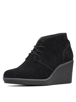 clarks-hazen-charm-low-wedge-lace-up-ankle-boot-black-suede