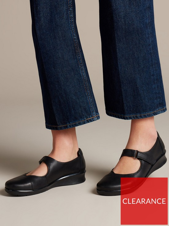 9bc84aaeeec2 ... Clarks Hope Henley Mary Jane Shoes - Black. View larger