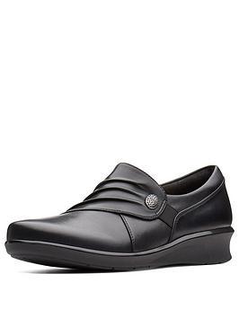 Clarks Clarks Hope Roxanne Slip On Flat Shoe Black