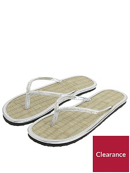 accessorize-chevron-beaded-sea-grass-flip-flop-silver