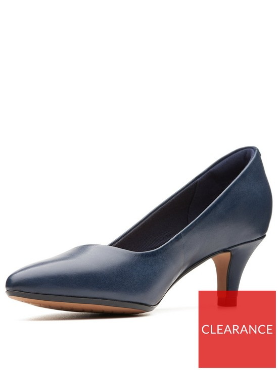 c42b032e40f1 Clarks Linvale Jerica Mid Heel Court Shoe - Navy