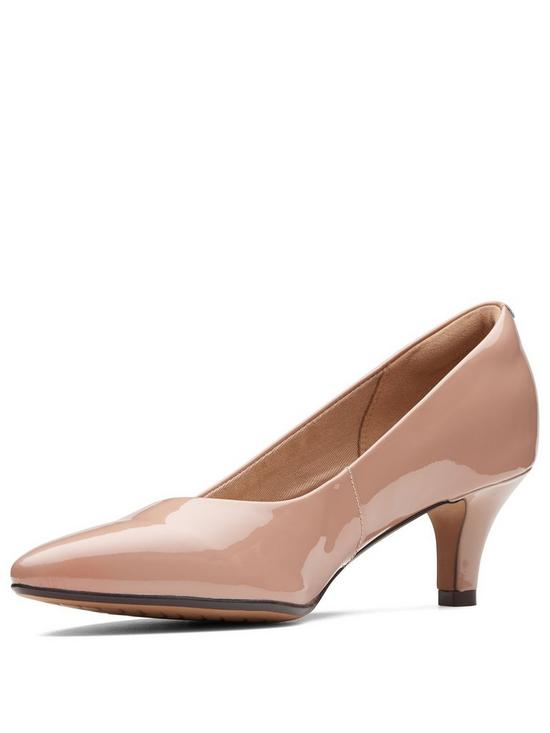 4f0463493 Clarks Linvale Jerica Mid Heel Court Shoe - Nude Patent | very.co.uk