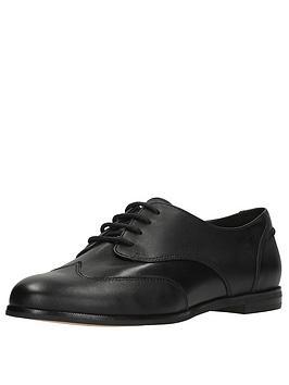 Clarks Andora Trick Brogue Shoe - Black