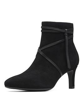 Clarks Clarks Calla Aster Ankle Boot Black Suede